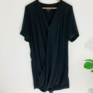 Topshop angled drape dress